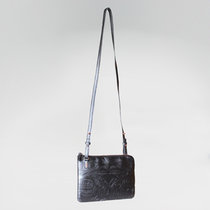 PURSE EMBOSSED THUNDERBIRD & WHALE (PINK AND GREY)